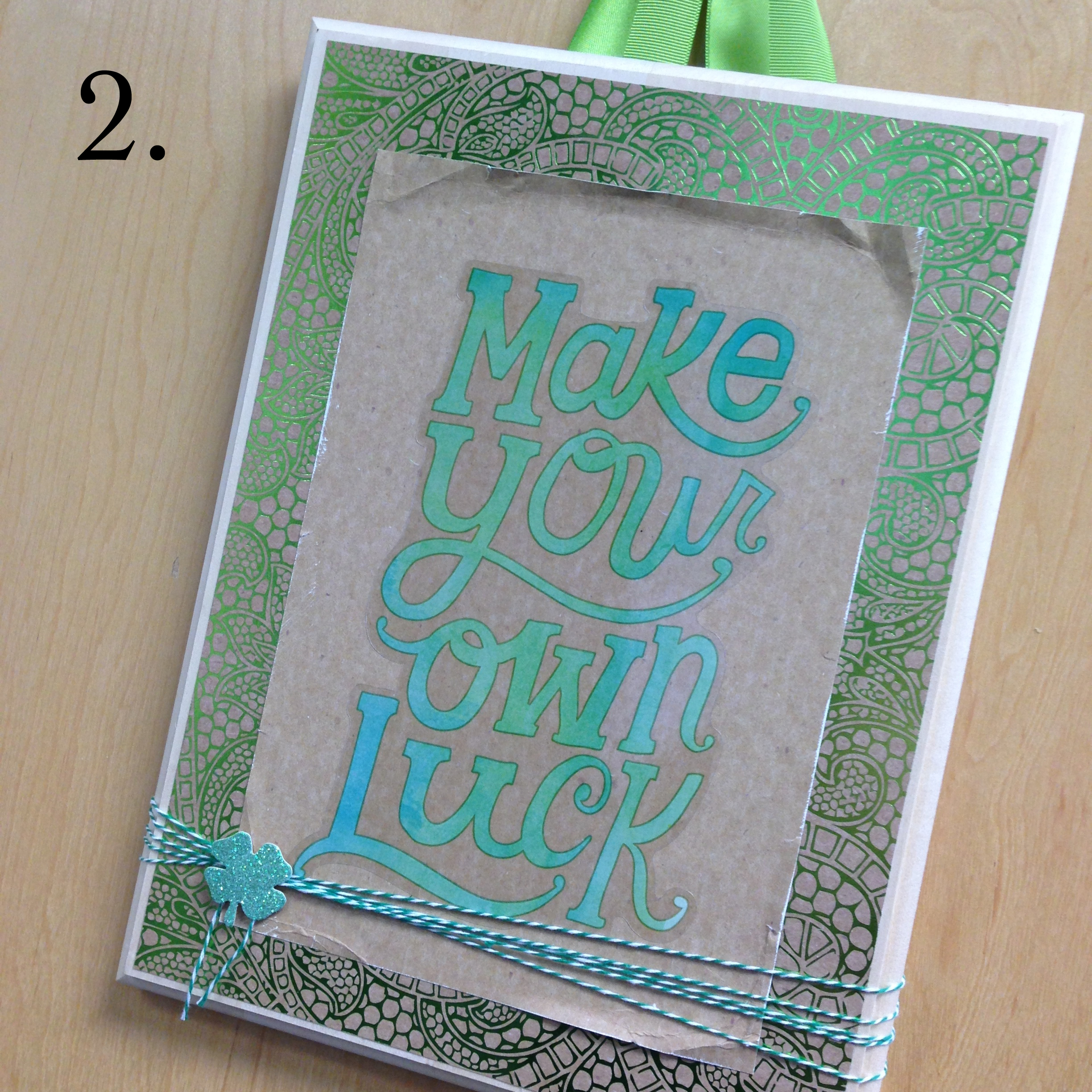 2. Make Your Own Luck St. Patrick's Day themed hanging DIY decor using mambi JUMBO stickers now at Michaels. .jpg