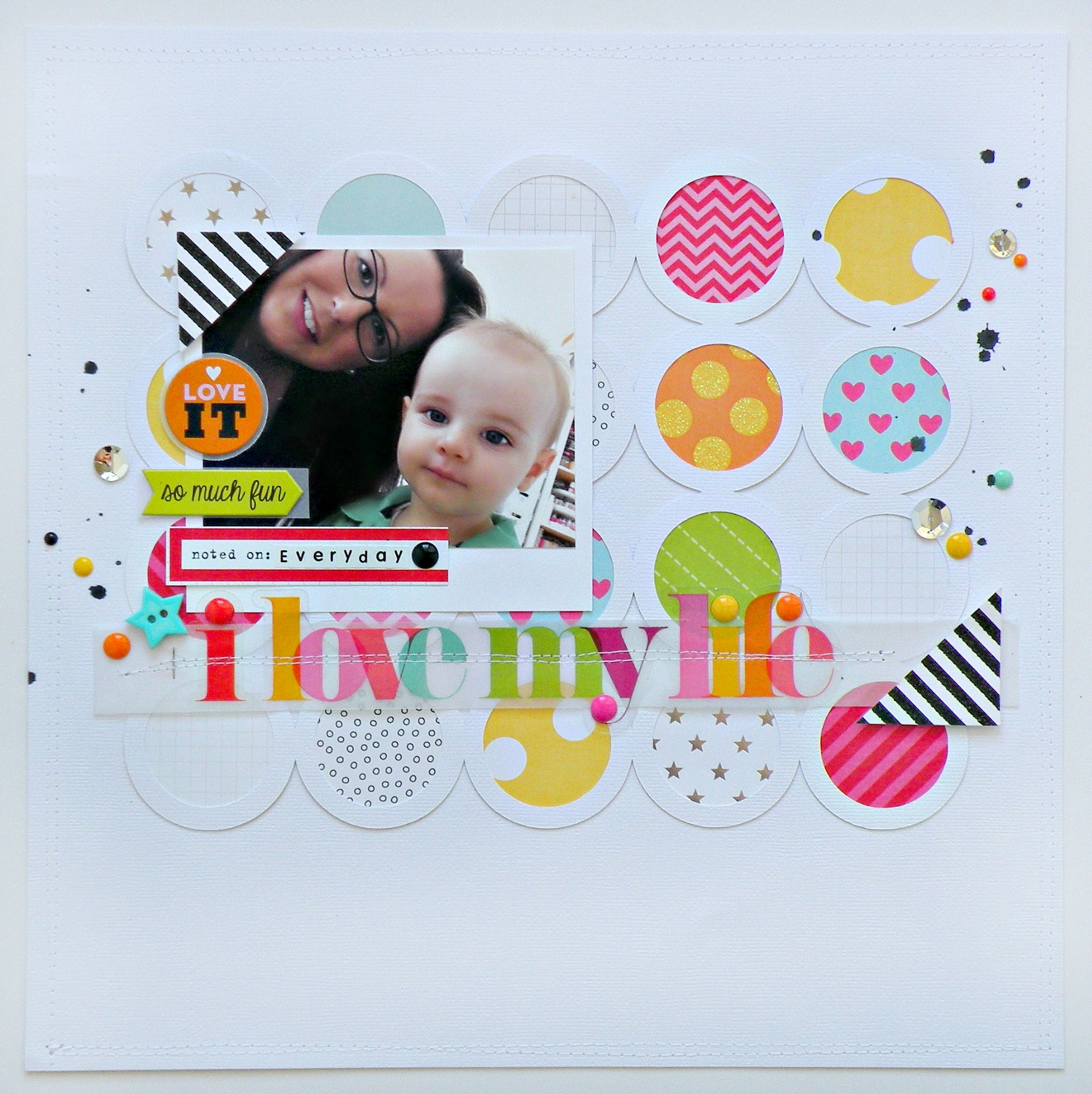 I Love My Life scrapbook layout with mambi embellishments & new Jumbo sticker..jpg
