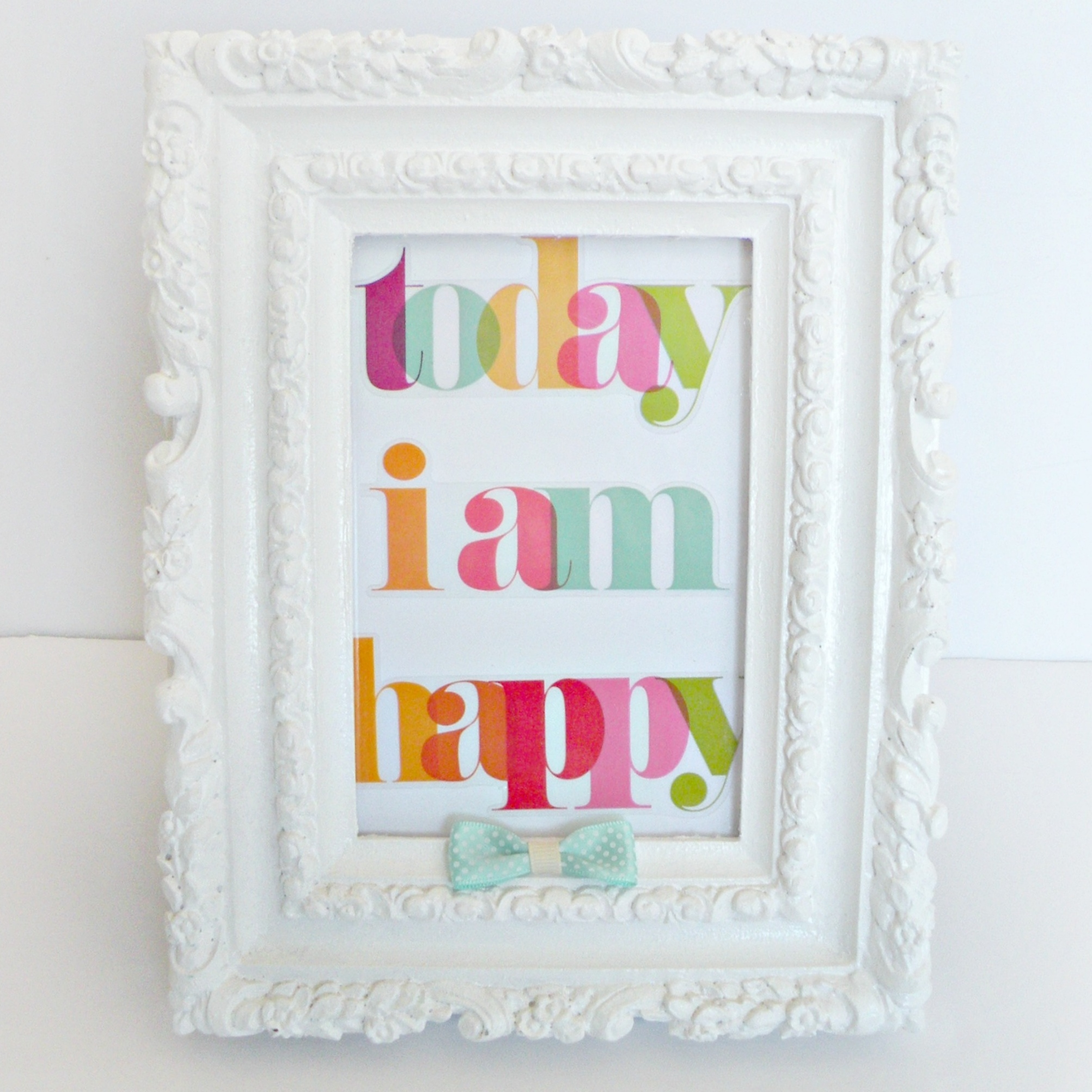 Today I am happy mambi sticker framed..jpg