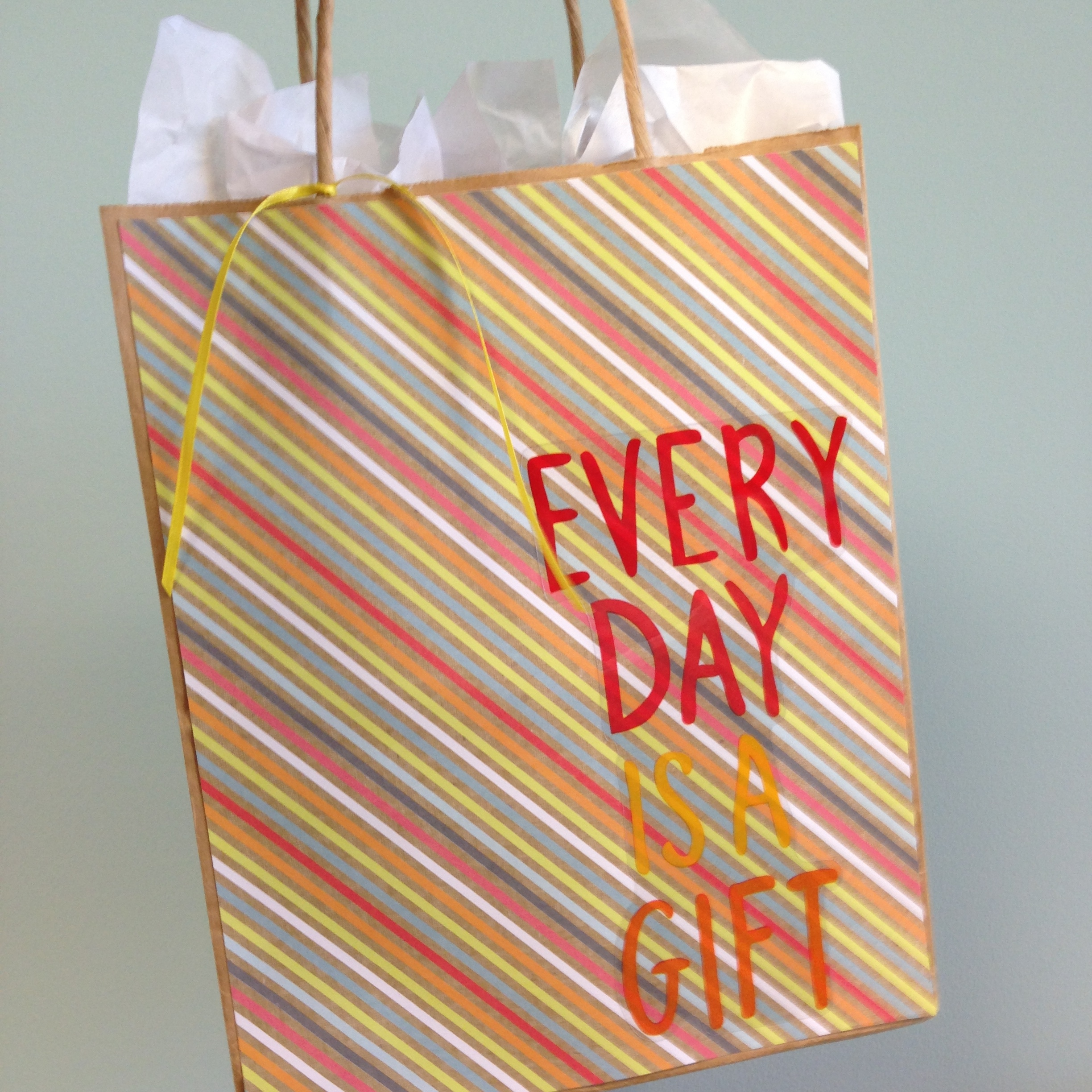 Every Day is a Gift Giftbag with mambi jumbo stickers that just came to Michaels..jpg