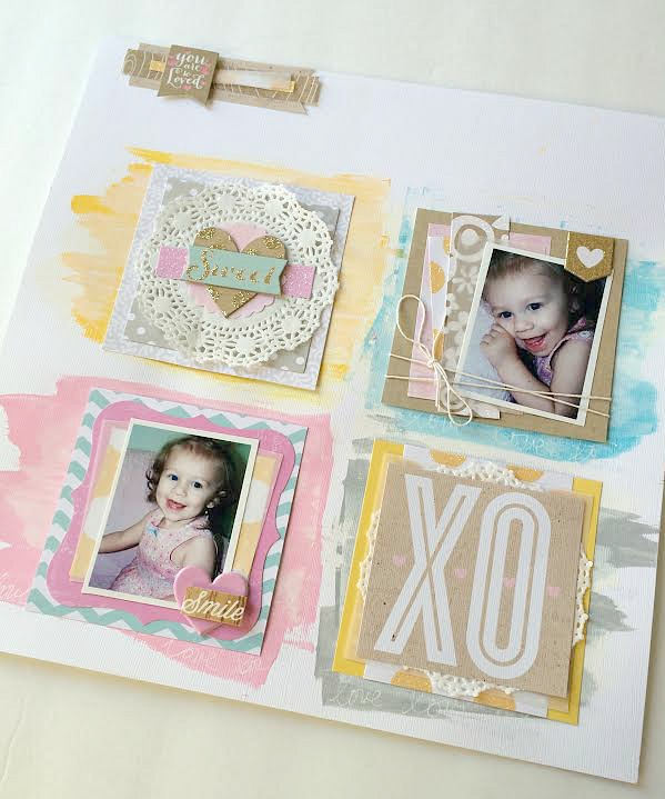 Sweet layout on the mambi blog.  me & my BIG ideas scrapbook page with pocket pages.