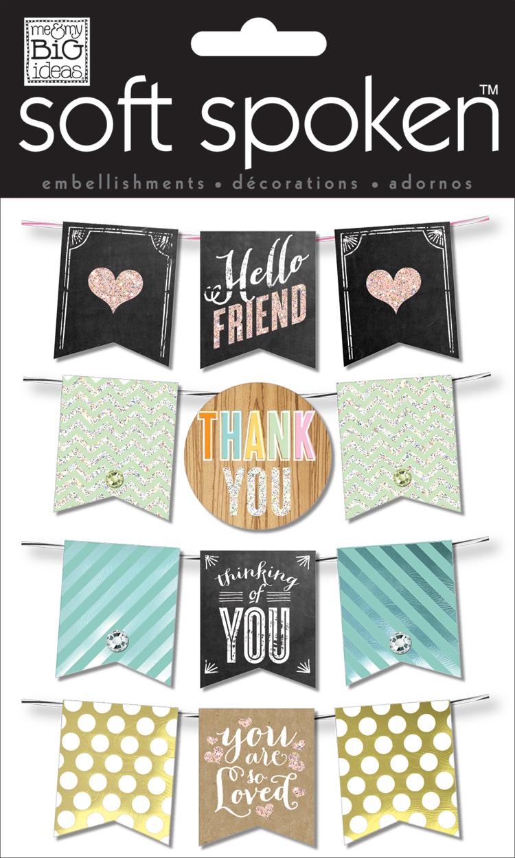 mambi:  soft spoken scrapbooking / paper crafting embellishments.  hello friend.  thank you.