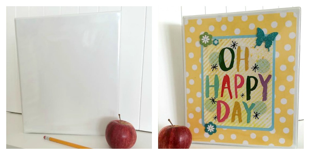 DIY jumbo sticker binder project on the mambi blog.  me & my BIG ideas stickers now in the mambi SHOP and Michaels.