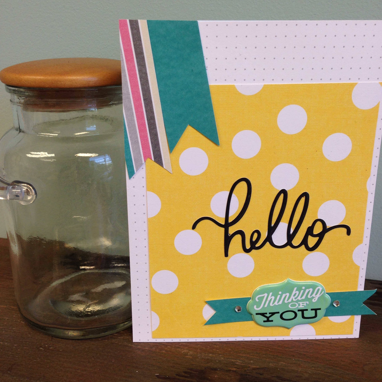 mambi:  DIY handmade hello card.