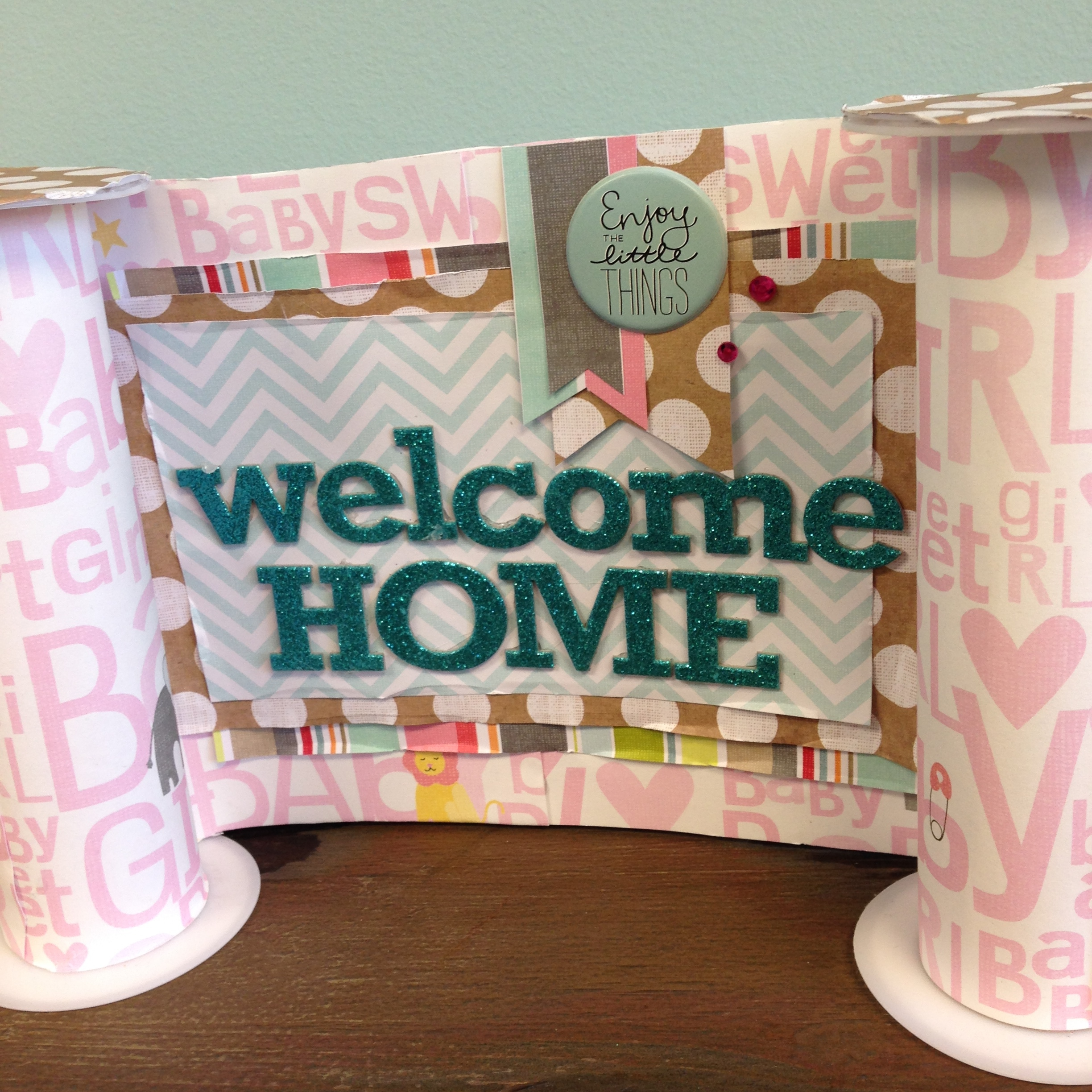 me & my BIG ideas:  Welcome home baby girl DIY craft.