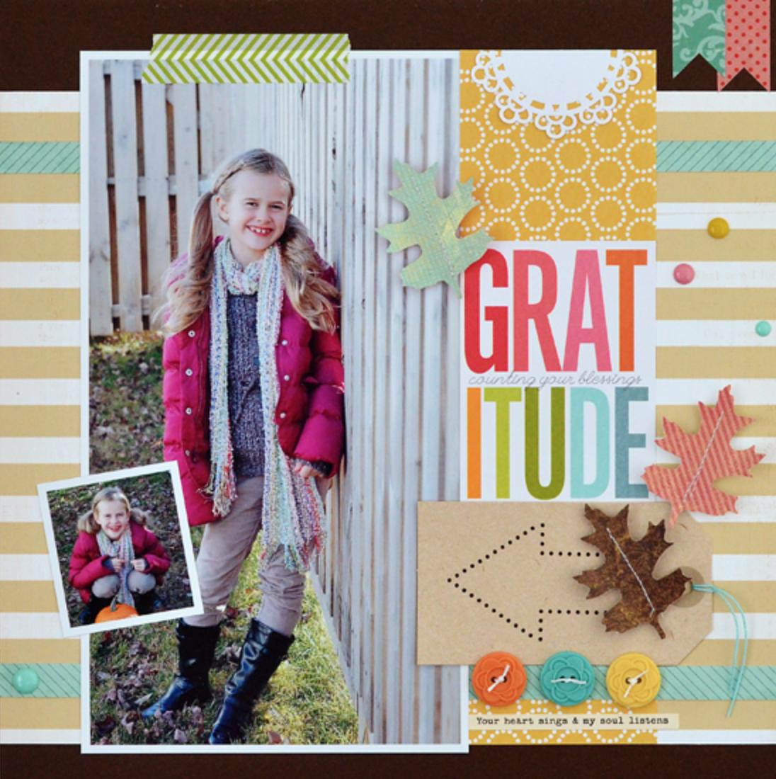 me & my BIG ideas:  pocket pages gratitude scrapbook page.