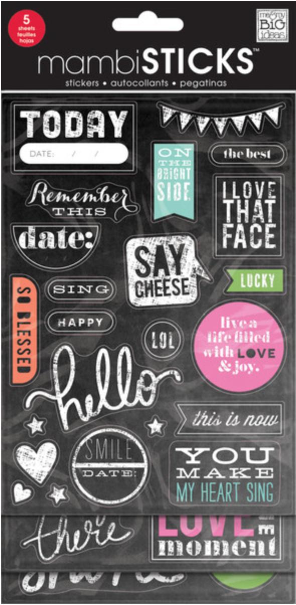 GVP-49 Chalkboard mambiSTICKS, fun sayings.