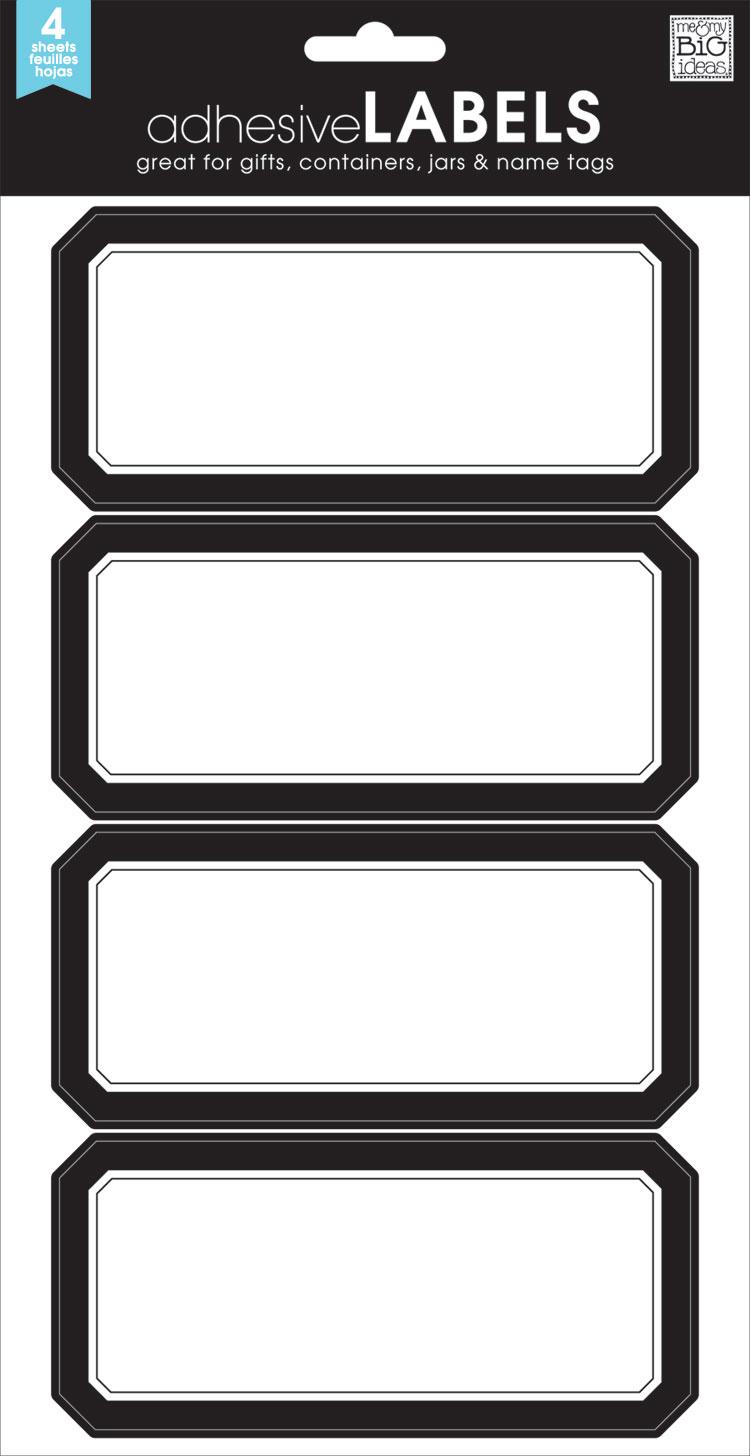 LABL-07 Classic Black Border mambi LABELS