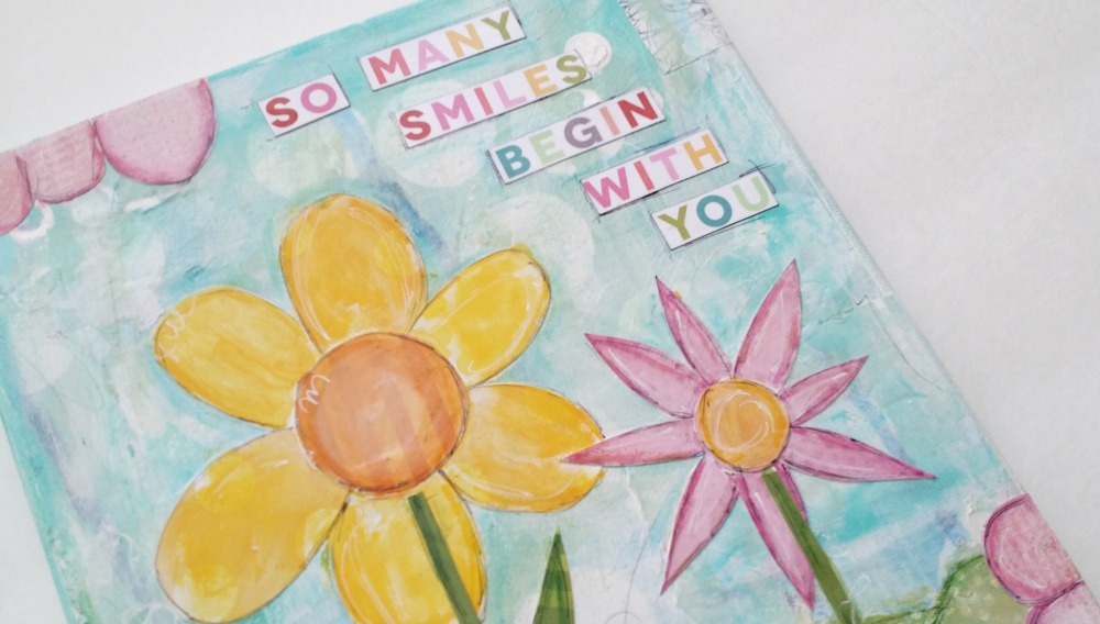 DIY mambi Spring Canvas on the me & my BIG ideas blog.