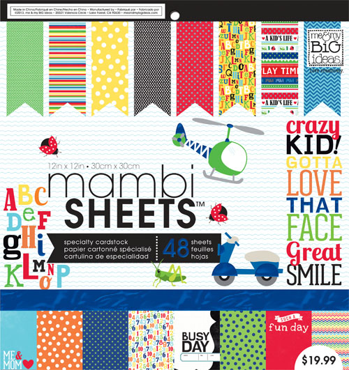 me & my BIG ideas paper pad, mambi SHEETS on a diy canvas craft. PADX-264