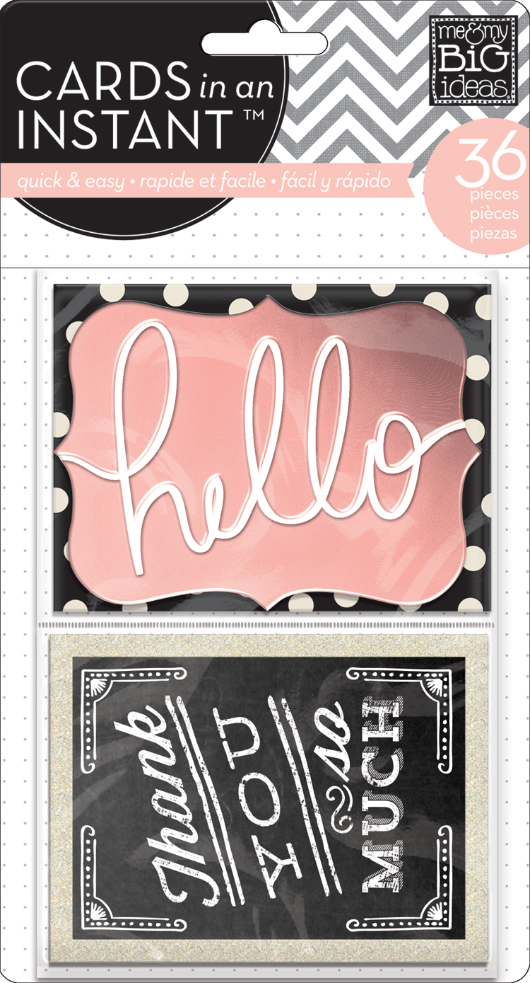 CEM-19 Hello CARDS in an INSTANT or pocket pages cards.  Fun from mambi.