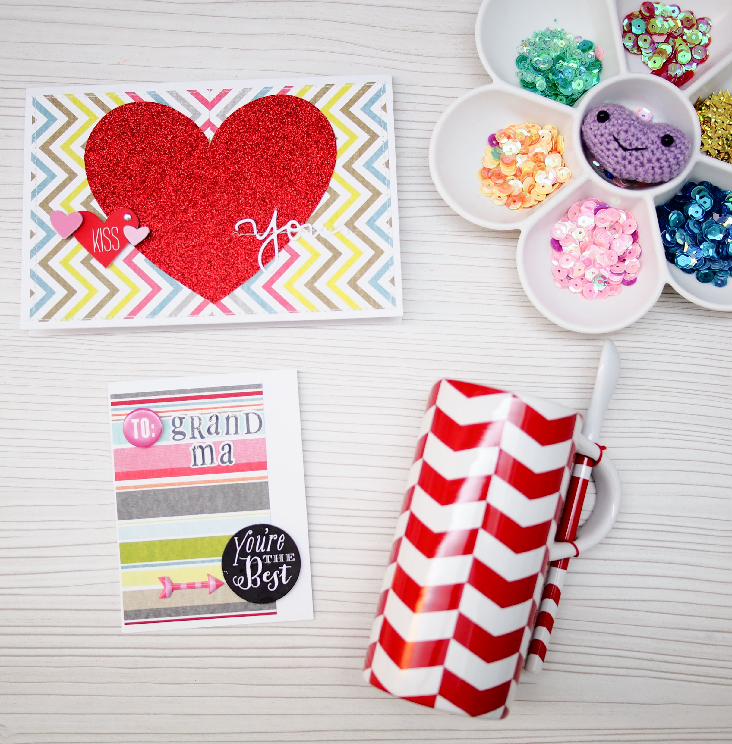 Mother's day and grandma card on the mambi blog.  me & my BIG ideas scrapbooking goodies make it simple for card making.
