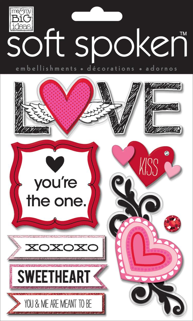 LOVE SS-1389 Valentines Day soft spoken.  me & my BIG ideas scrapbooking goodies.
