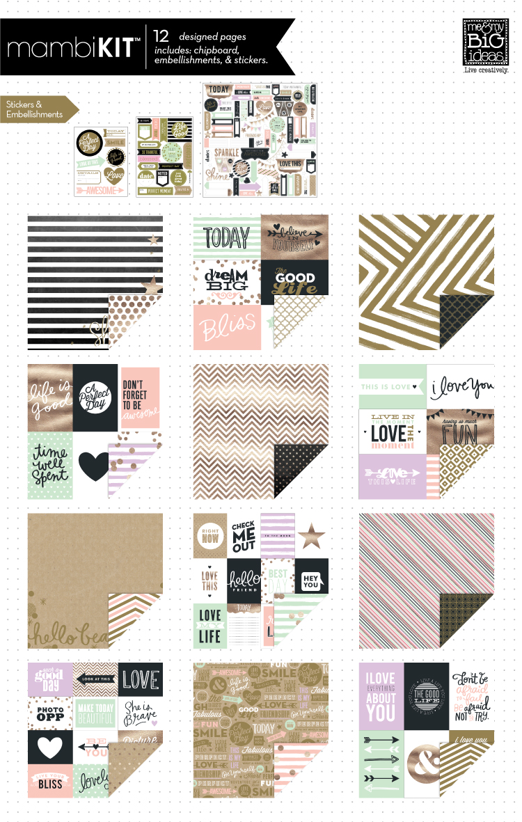 mambiKIT - Life is Good Scrapbook Page Kit