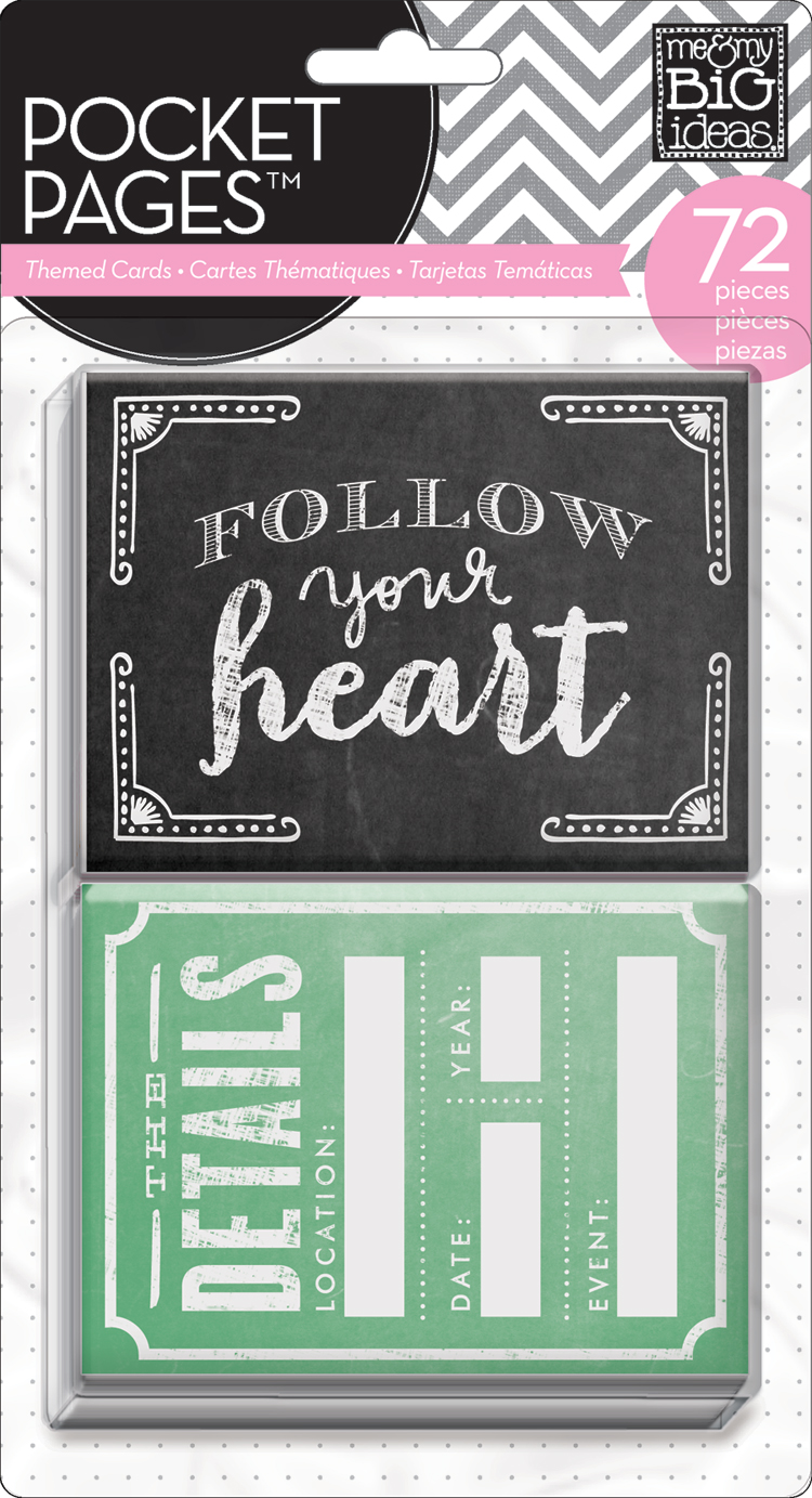 mambi TPC-22:  Follow your heart POCKET PAGES cards used for scrapbook/project life layout on the mambi blog.