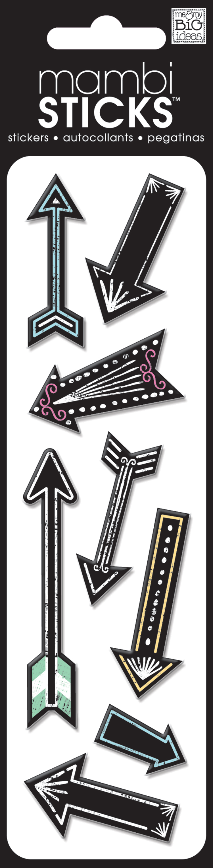 me & my BIG ideas, SPXH-253 Chalkboard Puffy Arrow Stickers.  puffy mambiSTICKS.