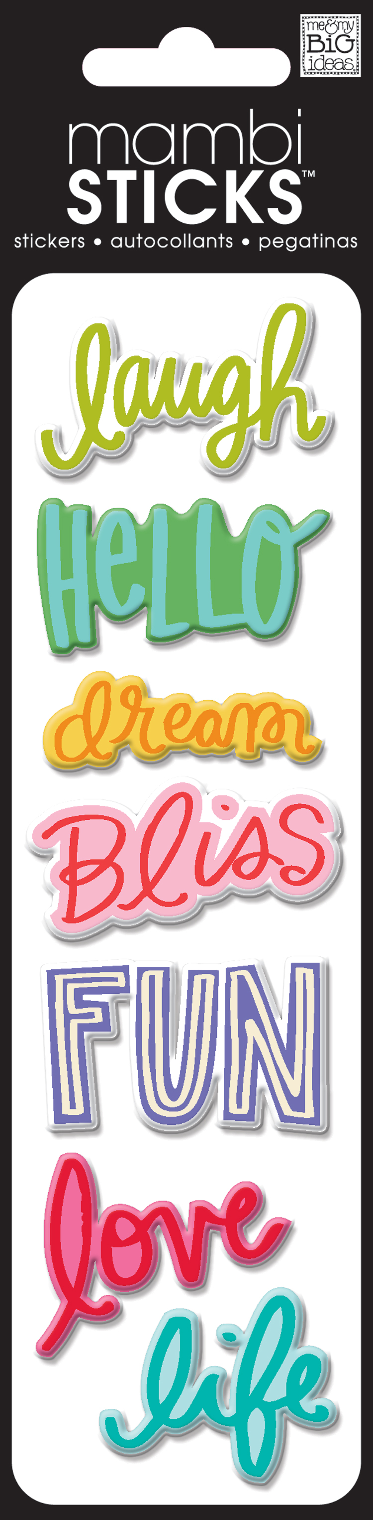 Puffy Laugh, Love, Life puffy bright stickers in the me & my BIG ides SHOP. SPXH-237