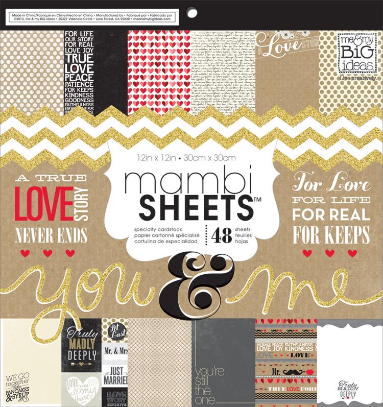 mambi PADX-262 wedding you & me paper pad.  mambiSHEETS.