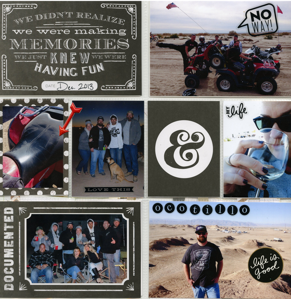 Dirt bike scrapbook page on the mambi blog.