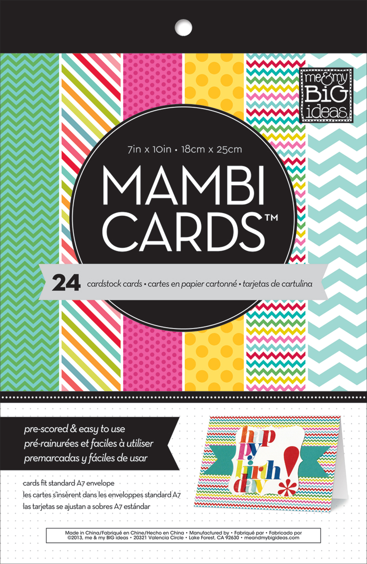 mambi:  Bright and Fun prints me & my BIG ideas pre-scored cards.