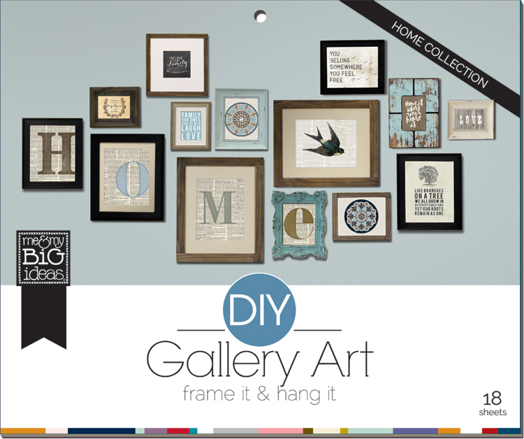 Home DIY Gallery Wall - Easy to use and make your own decor gallery.