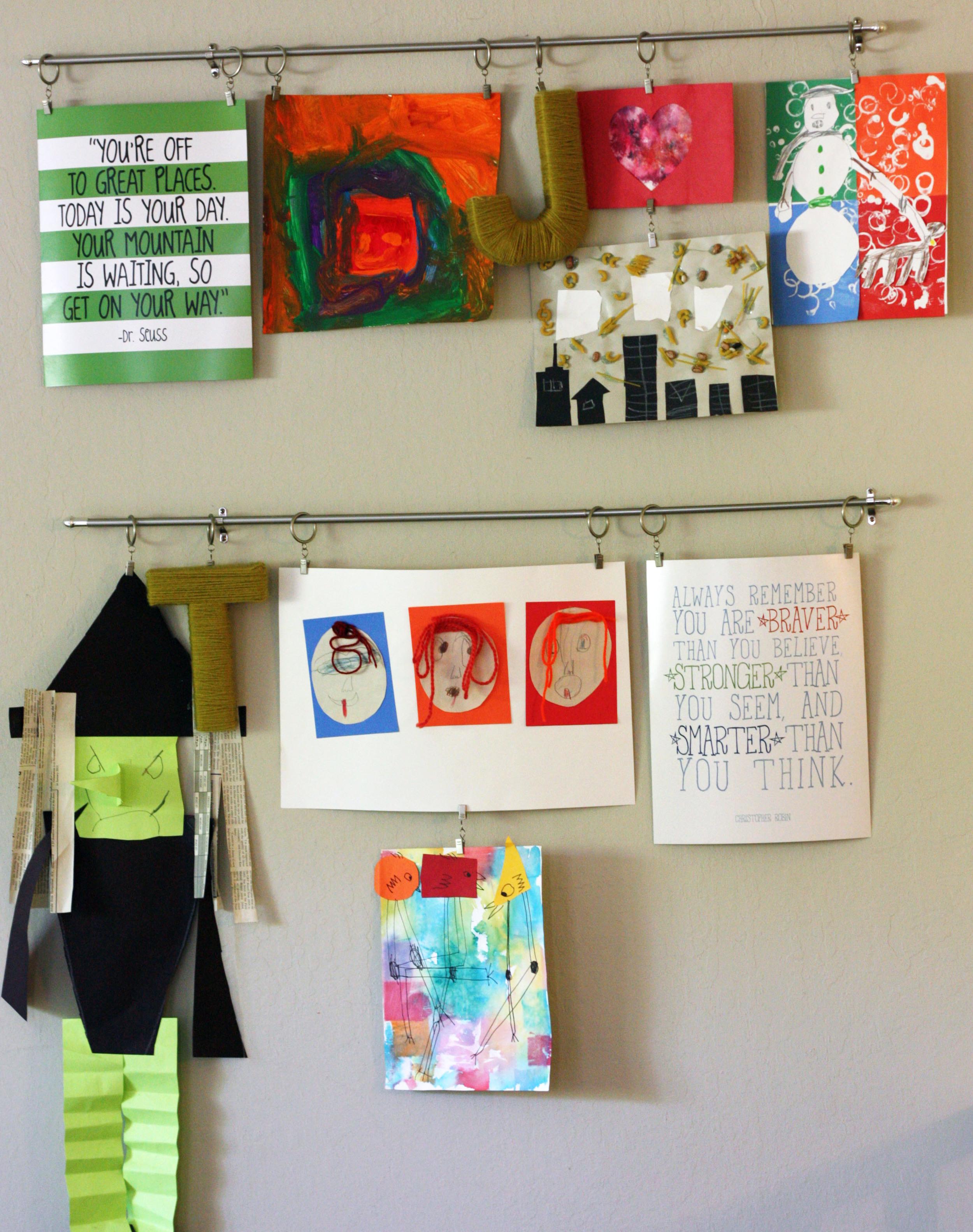 Boys play room decor with mambi DIY Gallery Art pads.