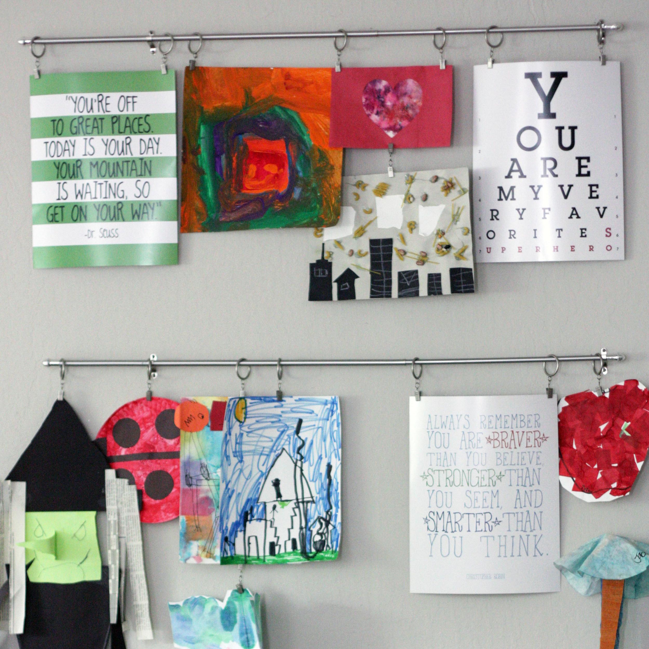 DIY Boy mambi Gallery Art Pads for home/room decor made easy.