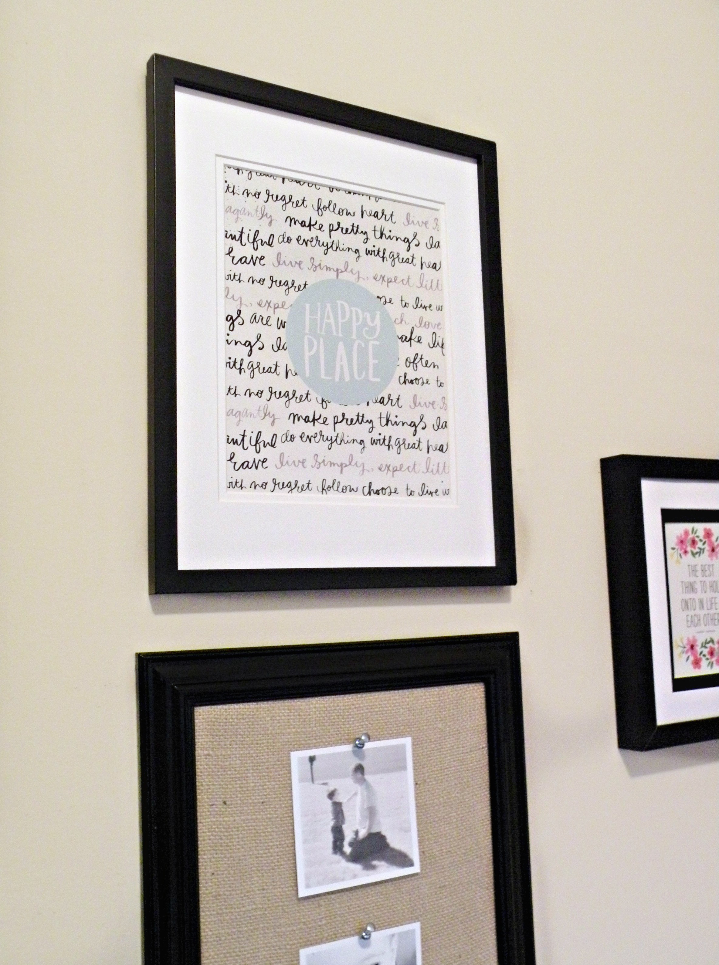DIY mambi Gallery Wall Home Decor Pads on the me & my BIG ideas blog.