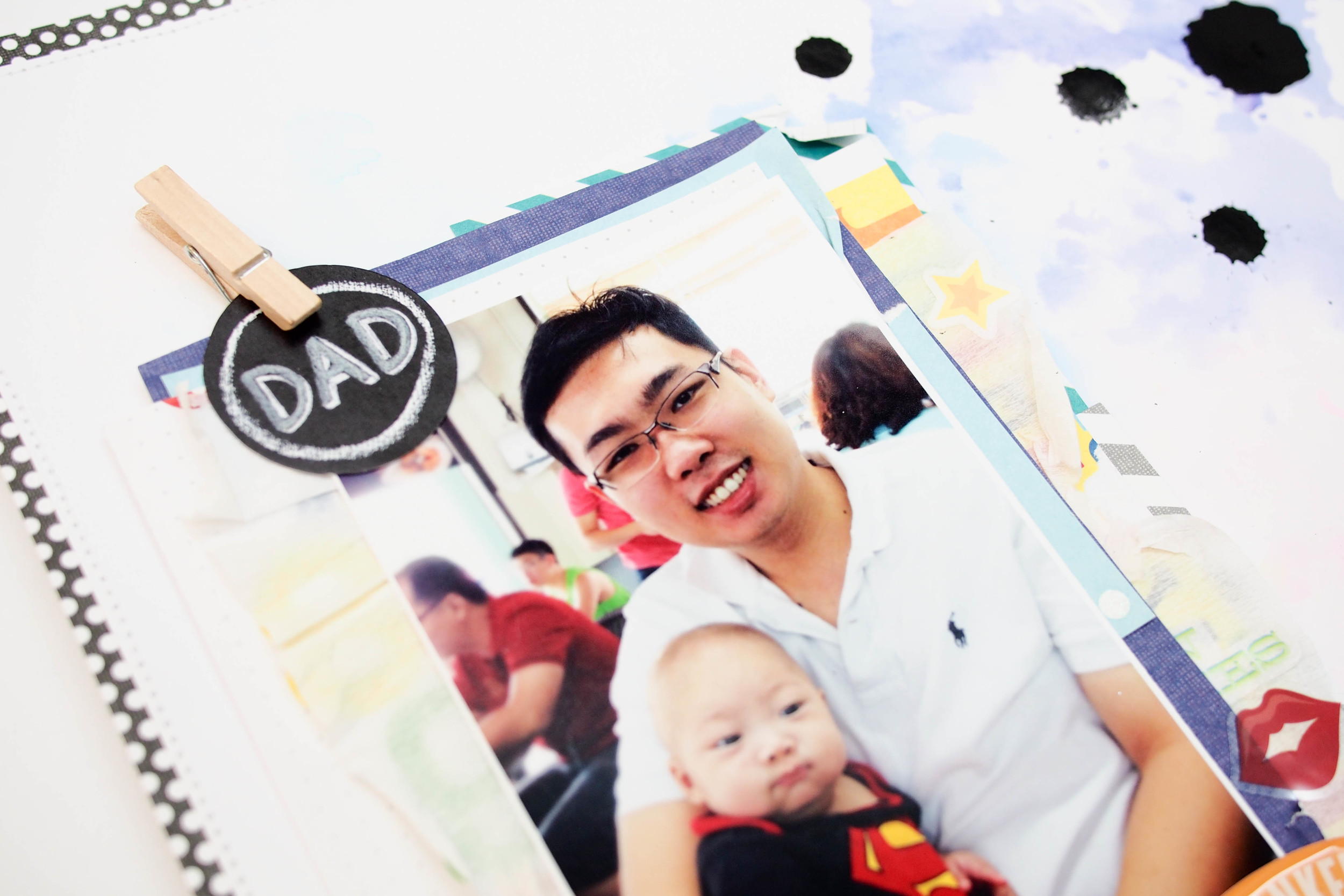 Father's Day scrapbook page on the mambi blog.