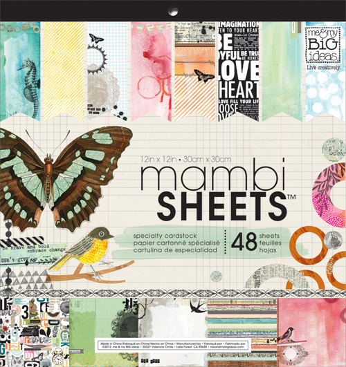 mambiSHOP - Mixed media paper pad.  Used for scrapbooking, paper crafting, card making and more!
