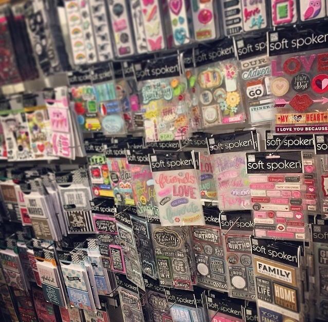 mambi collection wall.  scrapbook heaven!
