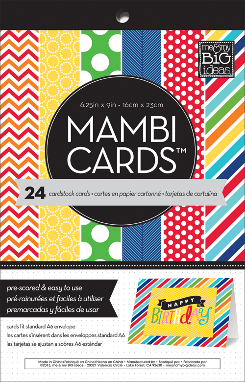 mambi:  CARDS in an INSTANT card pre-scored pad.