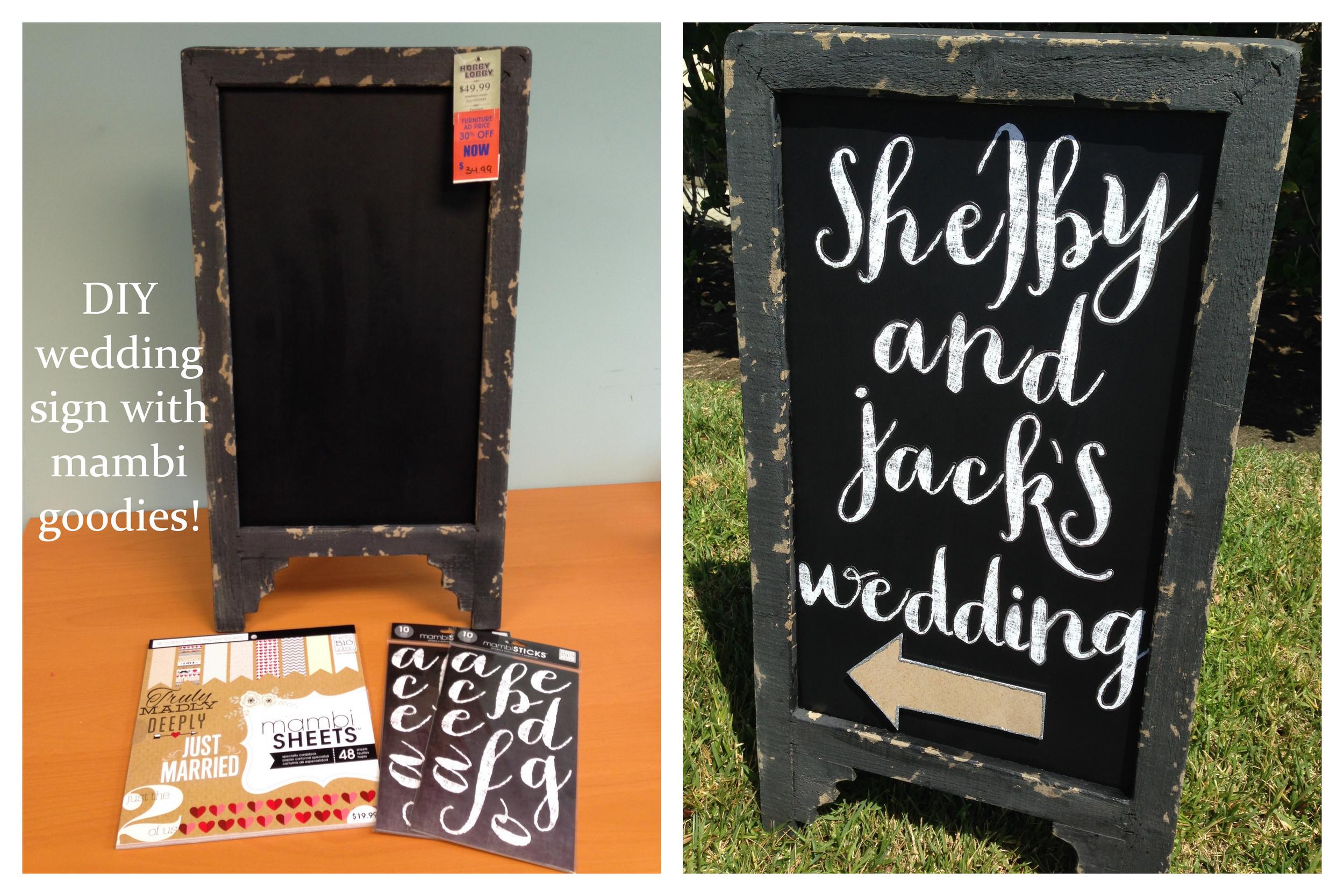Diy Wedding Sign Me My Big Ideas
