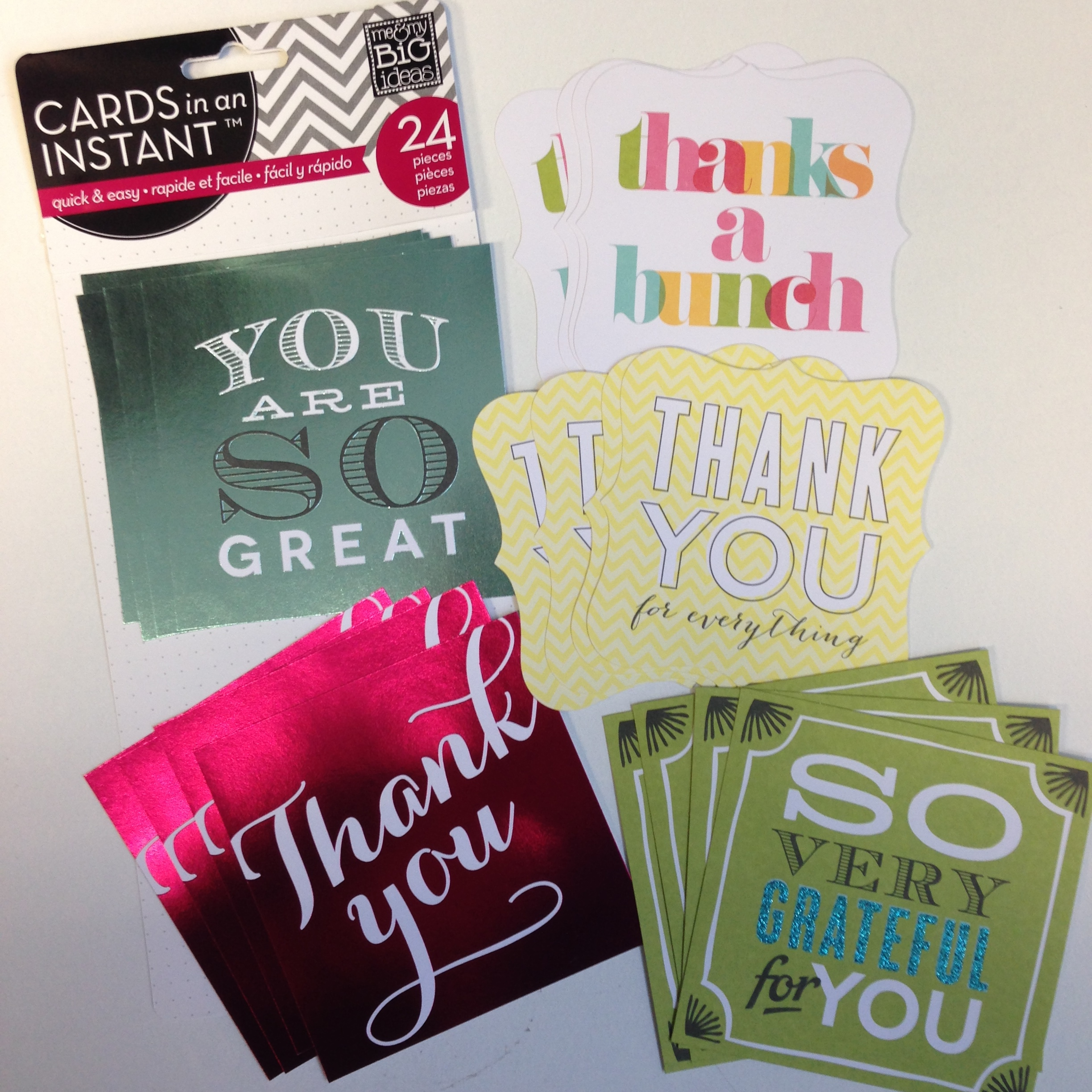 CARDS in an INSTANT - thank you cards, make it so easy to make homemade quick cards.