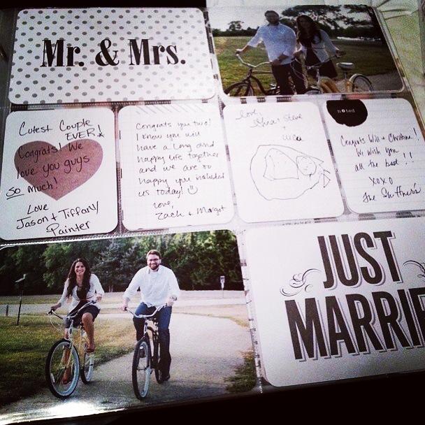 mambi blog wedding signature book using POCKET PAGES.  Easy DIY wedding book.