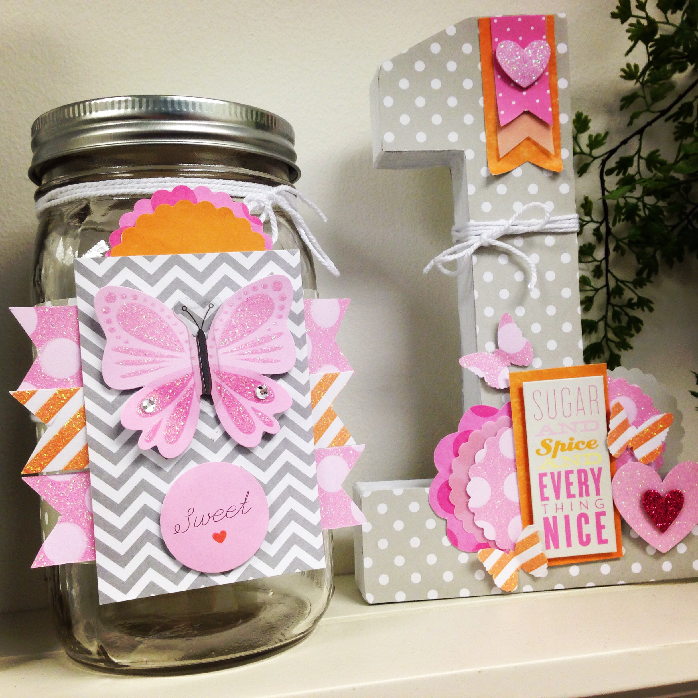 baby girl room decor with mambi goodies.  pink & grey chevron with butterflies.