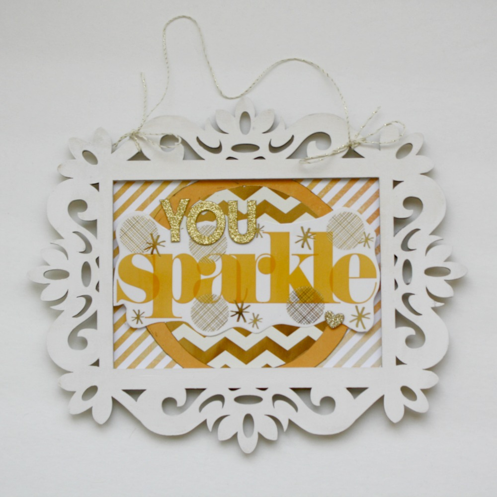 mambiSTICKS:  You Sparkle frame using jumbo stickers.
