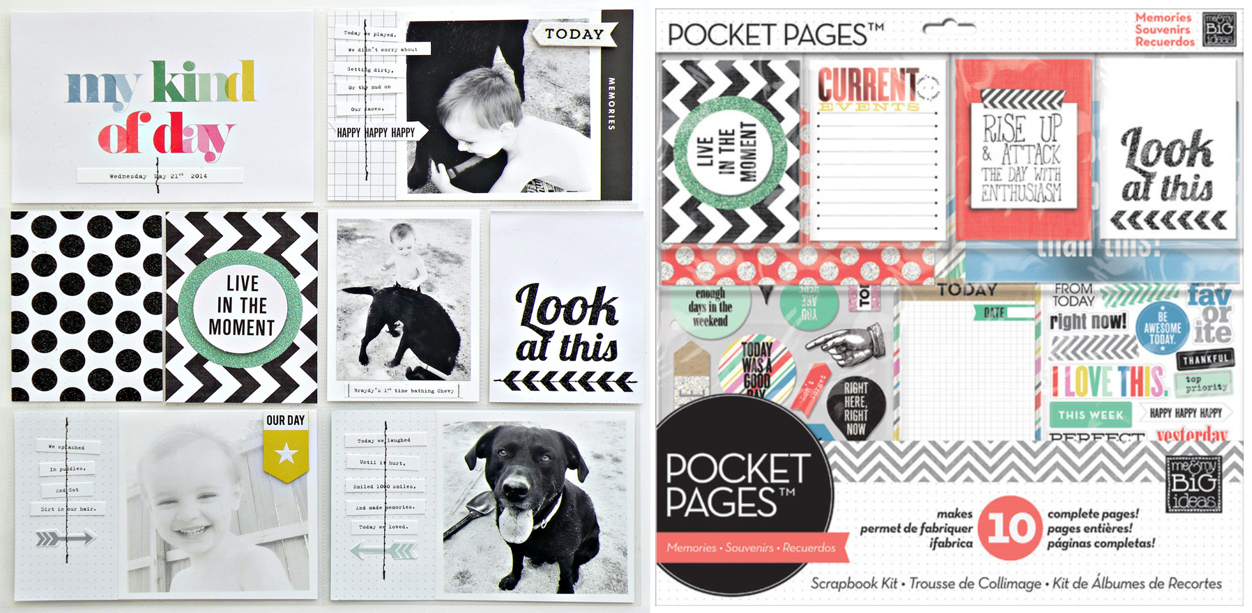 my kind of day POCKET PAGES page using mambi page kit.
