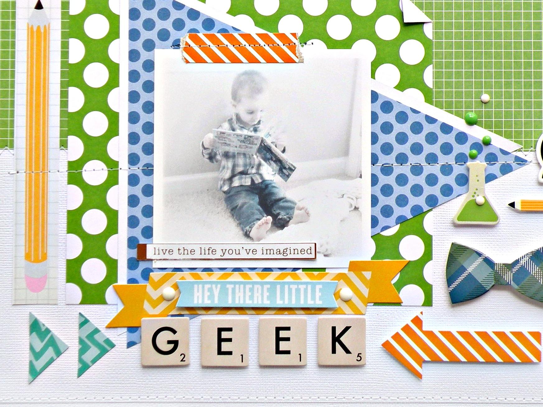Little Geek Scrapbook Page