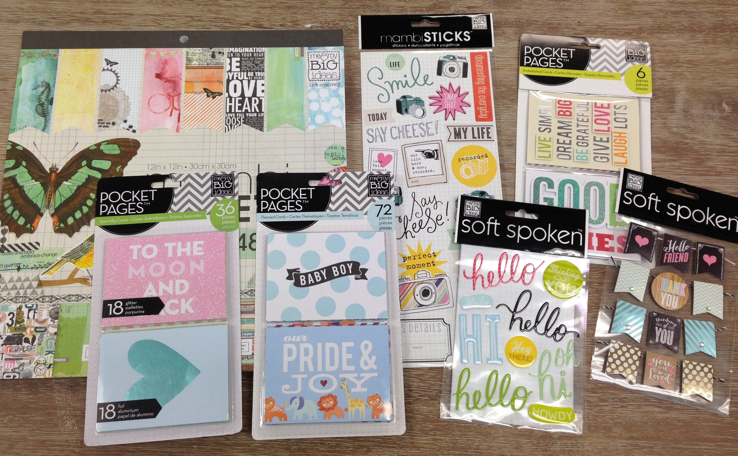 mambiSHOP:  items used on the mambi blog POCKET PAGES pastel scrapbooking layout.