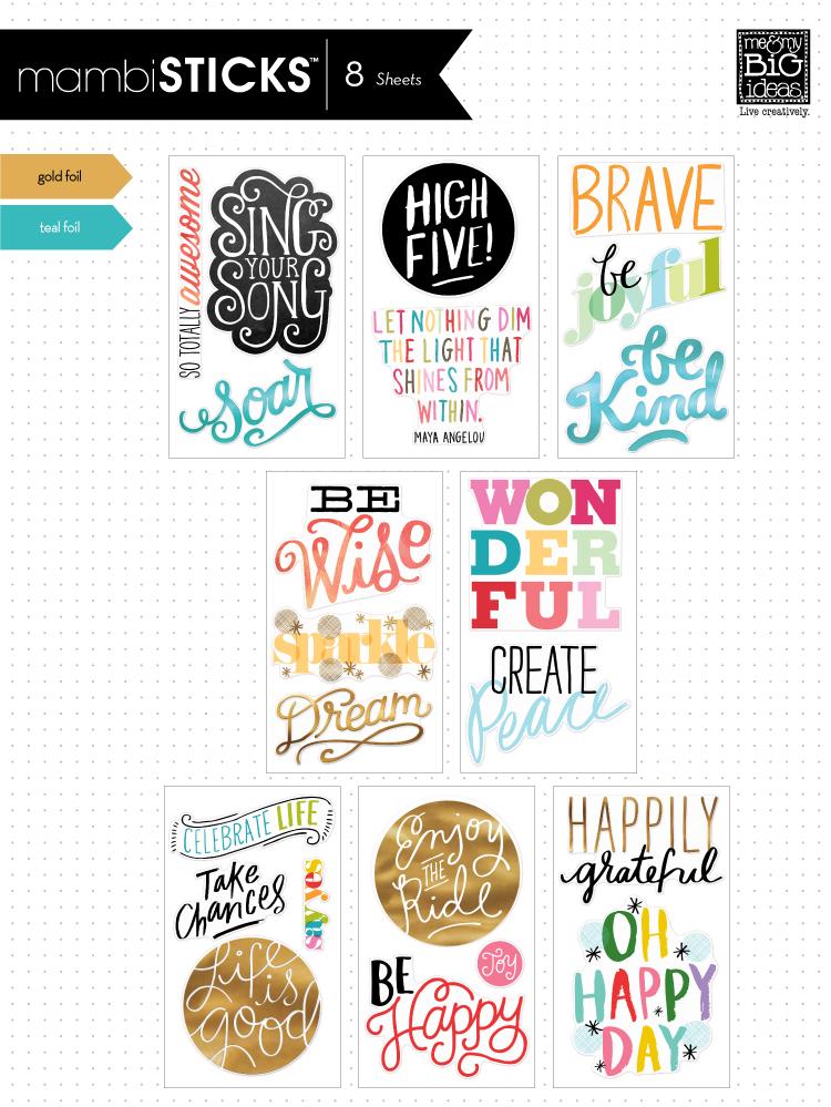 Jumbo mambi Stickers used on a fun DIY tray!