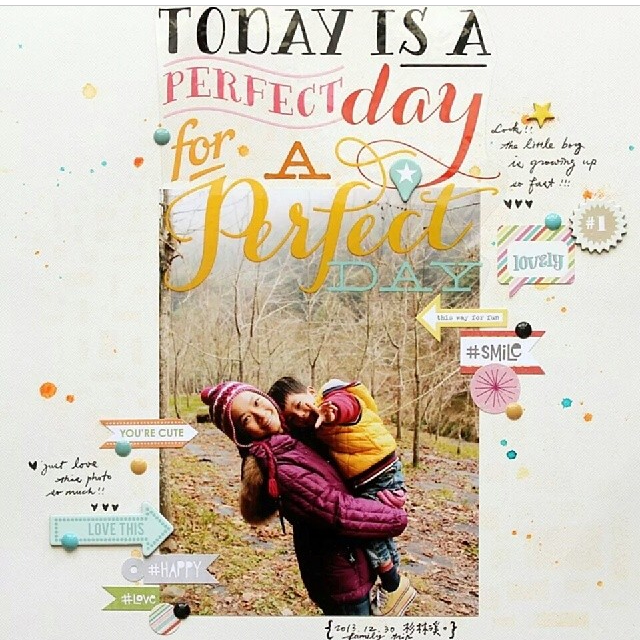 mambi jumbo stickers - today is a great day to have a good day on a scrapbook page.