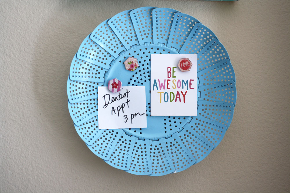 magnets made with mambi paper and epiphany crafts epoxy hexagons.