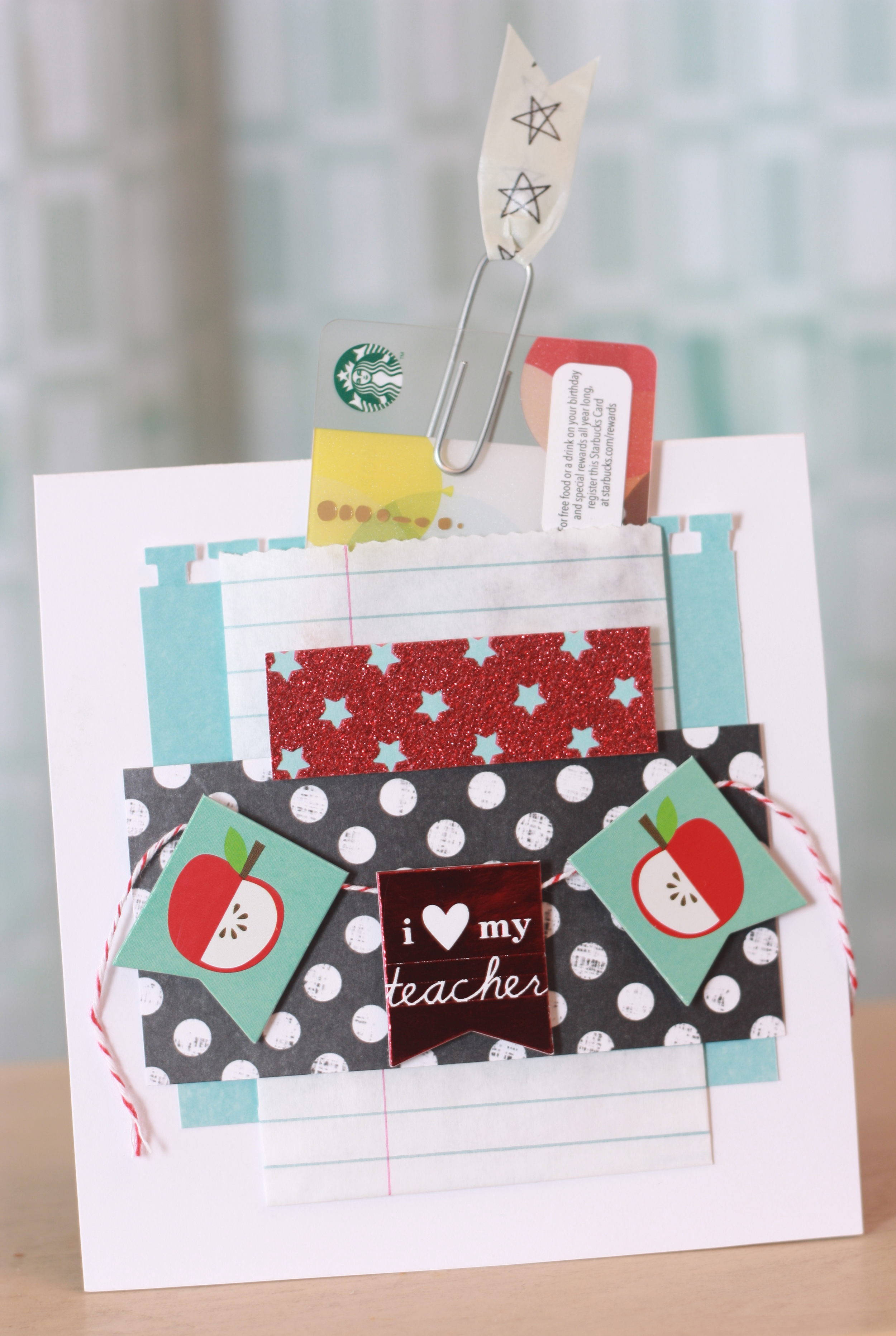 DIY gift | Back-To-School teacher gift card holder -- me and my BIG ideas