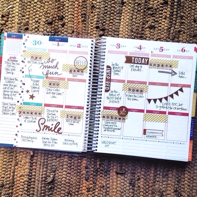 @momruncraft using mambi product in her planner | me & my BIG ideas