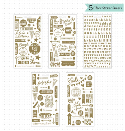 Gold Foil Clear POCKET PAGES™ Stickers   me & my BIG ideas