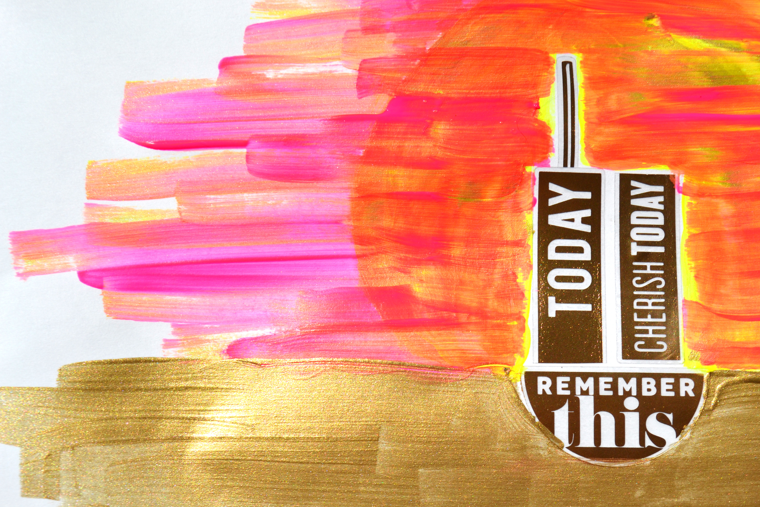 using Gold Foil mambiSTICKS in 9/11 paint project