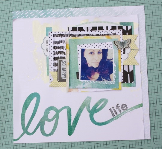 'Love Life' scrapbook page by DT member Jen Randall | me & my BIG ideas
