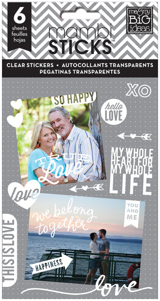 mambiSTICKS Clear Stickers - So Happy | me & my BIG ideas