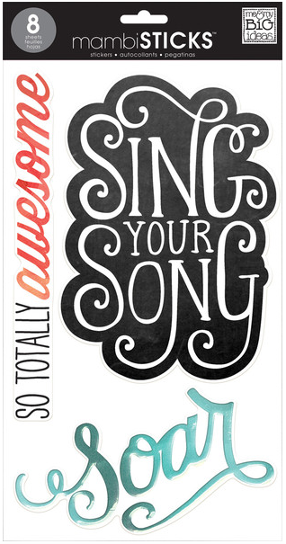 Inspirational - jumbo mambiSTICKS clear stickers | me & my BIG ideas